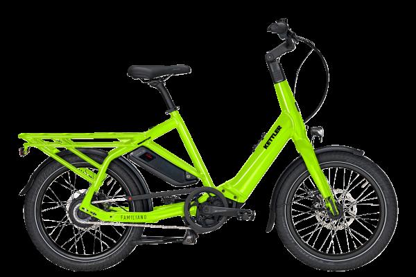KETTLER Alu-Rad Familiano C-N 500 Wh E-Transportrad 20 Zoll Nabenschaltung metallic lime - 46 cm