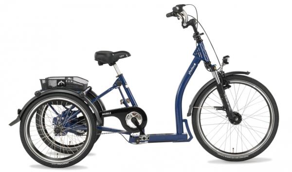 "PFAU-TEC Shoppingrad ""Mobile"" Mod. 22 Tiefeinsteiger, 24 / 20"", blau, 3-Gang, RBN 34cm"