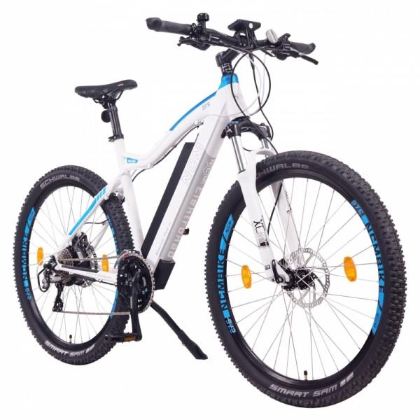 "NCM Moscow Plus 48V 27,5"" E-MTB , Mountainbike E-Bike 16Ah 768Wh Panasonic Zellen Akku, weiß"