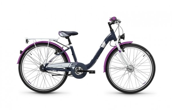 S`COOL chiX alloy 24 - 7 speed Nexus - dunkelgrau/violett matt
