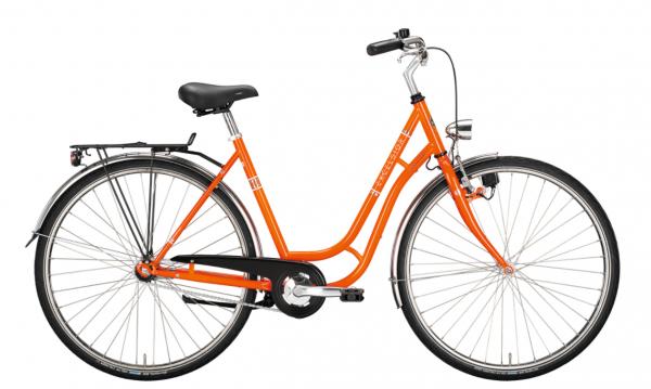 "EXCELSIOR Cityrad ""Touring Niro"" Mod.20, 28"", orange, 1-Gang RBN - RH 53 cm"