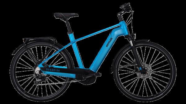 Kettler E-Bike Alu Rad Quadriga CX10 500 Wh Herren 28 Zoll Diamant 10 Gang petrol matt in Gr. 60 cm