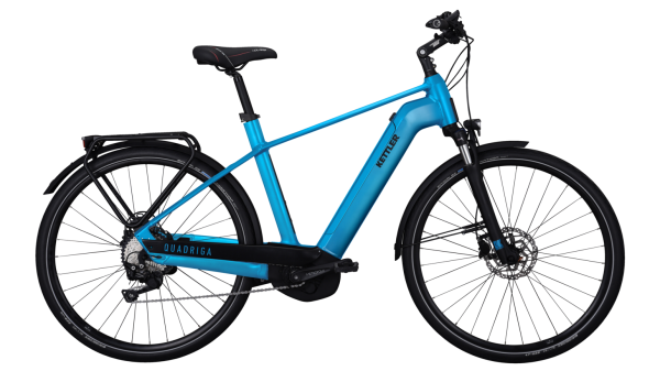 Kettler E-Bike Alu Rad Quadriga CX10 500 Wh Herren 28 Zoll Diamant 10 Gang petrol matt