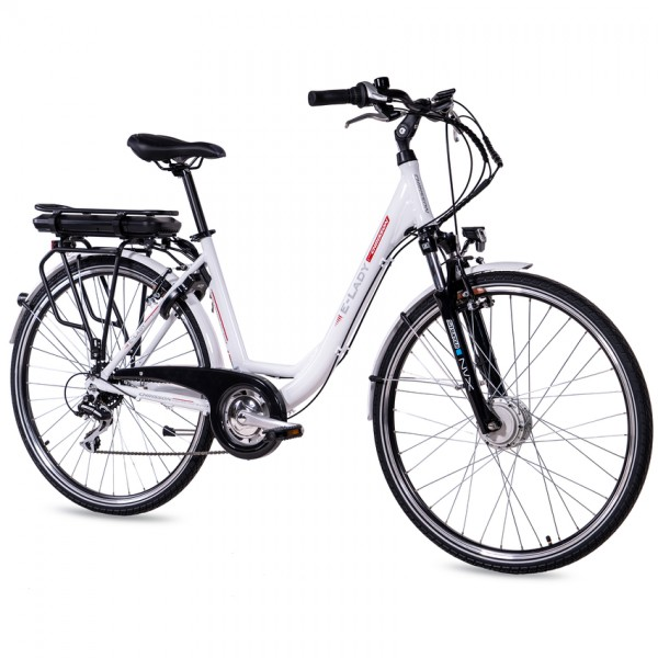 CHRISSON E-LADY 8G Shimano Acera ANANDA 28 Zoll E-Citybike weiß