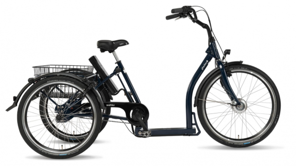 """PFAU-TEC Elektro-Shoppingrad """"Napoli II"""" Mod. 22 Tiefeinsteiger, 26 / 24"""", blau, 3-Gang, 45cm"""