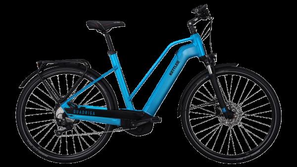 Kettler E-Bike Alu Rad Quadriga CX10 500 Wh Damen 28 Zoll Trapez 10 Gang petrol matt