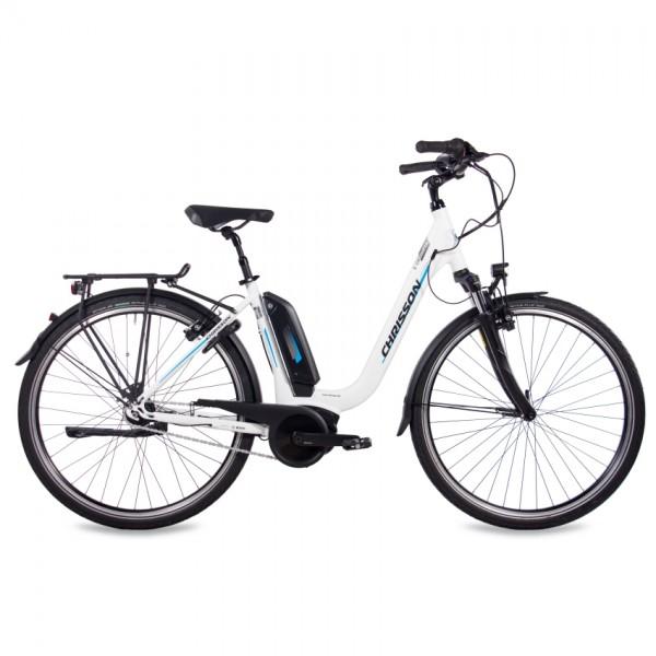 CHRISSON E-CASSIOPEA 7 Gang Shimano Nexus BOSCH Active Line 400Wh weiss matt28 Zoll E-Citybike Damen