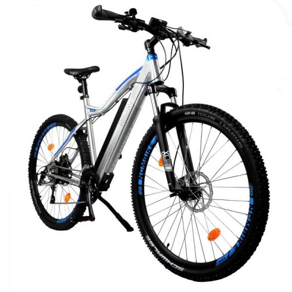"NCM Moscow Plus 29"" E-Bike, Mountainbike, 48V 16Ah 768Wh Akku, silber"