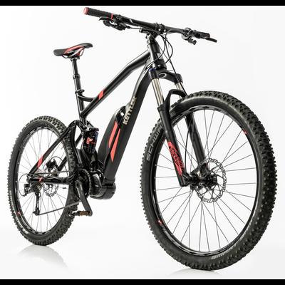 KETTLER E Scarpia GO FS 500 Wh Unisex E-Bike 27,5+ Zoll Full-Suspension 9 Gang 2018 graphite, matt