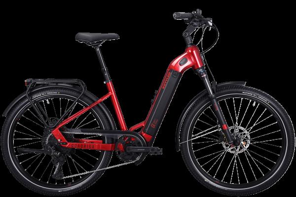KETTLER Alu-Rad Quadriga DUO CX12 1000 Wh Unisex E-Trekking 27,5 Zoll 12 Gang Kettenschaltung red