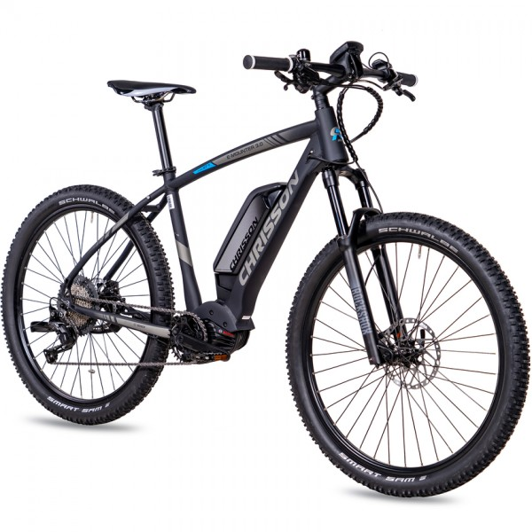 CHRISSON E-MOUNTER 3.0 11 Gang BOSCH Gen4 Powerpack500 27,5 Zoll E-Mountainbike schwarz matt