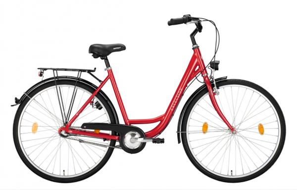 "EXCELSIOR Cityrad ""Road Cruiser Alu"" Mod. 21 - 28"", cherry red, 3-Gang SHIMANO ""Nexus"" RBN, 46cm"