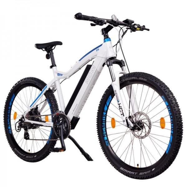 "NCM Moscow 29"" E-MTB,Mountainbike,E-Bike,48V 13Ah 624Wh Akku, matt weiß,blau"