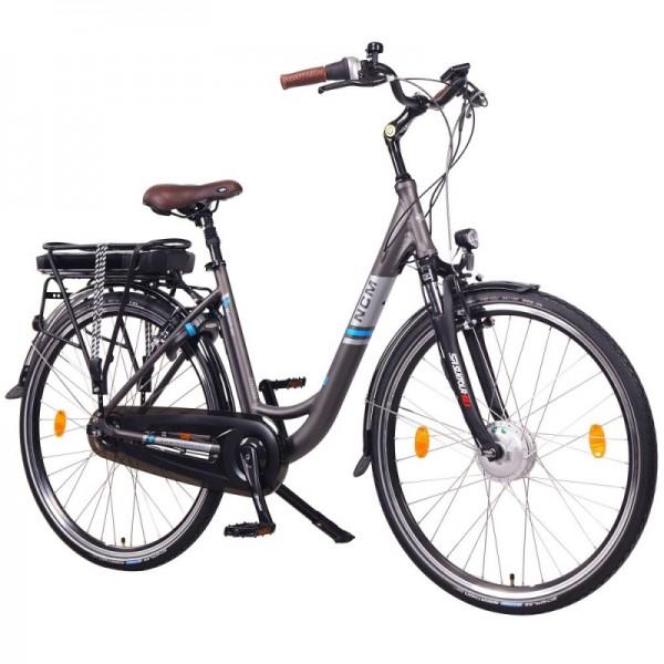 """NCM Munich N8C 28"""" City E-Bike mit Rücktrittbremse, in anthrazit"""