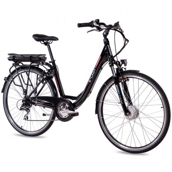 CHRISSON E-LADY 8G Shimano Acera ANANDA 28 Zoll E-Citybike schwarz