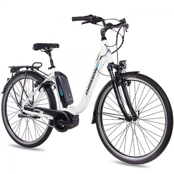 CHRISSON E-CASSIOPEA 7 Gang Shimano Nexus BOSCH Active Line 400Wh 28 Zoll E-Citybike Damen weiss