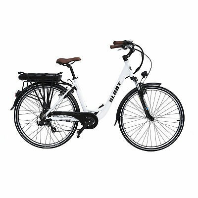 Elektrofahrrad Citybike 700C Weiß E-CI1010 E-Bike Pedelec Sloot Sports 468Ah