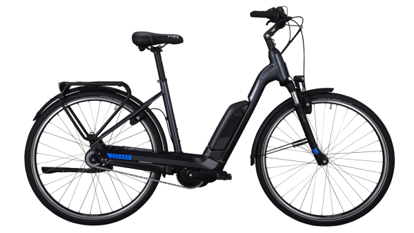 E-Bike Kettler Alu Rad Escaro Comp 8 FL 500 Wh Unisexfahrrad E-City 28 Zoll Wave 8 Gang grey/black/