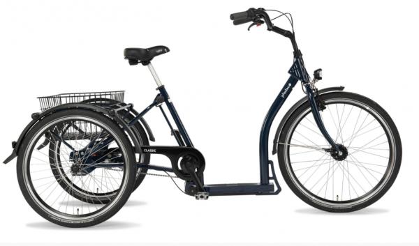"""PFAU-TEC Shoppingrad """"Classic"""" Mod. 22 Tiefeinsteiger, 26 / 24"""", blau, 3-Gang SHIMANO """"Nexus"""" 45cm"""