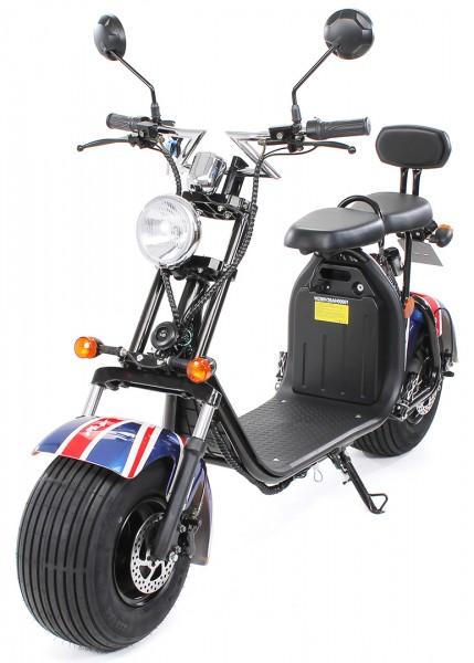 eFlux Harley Two Elektro Scooter 1500 Watt 60 Volt 20AH mit Straßenzulassung