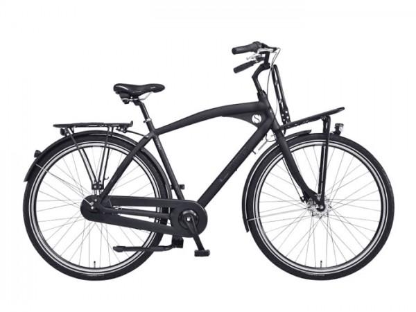 CHRISSON E-ROUNDER 7 28 Zoll E-Citybike Herrenrad grau matt