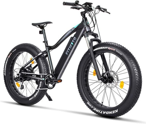 Fitifito FT26 Elektrofahrrad Fatbike E-Bike Pedelec, 48V 250W Heckmotor, 7 Gang, Kenda 26 x 4,0 MTB