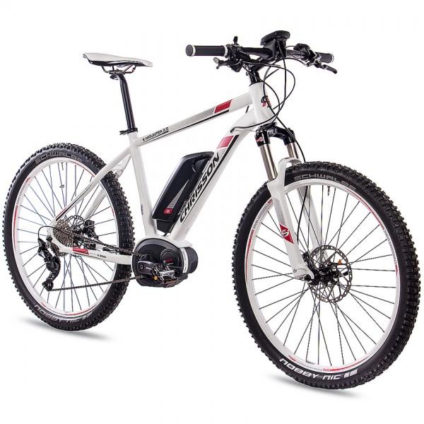 CHRISSON E-MOUNTER 2.0 10 Gang BOSCH Powerpack400 27,5 Zoll E-Mountainbike weiss matt