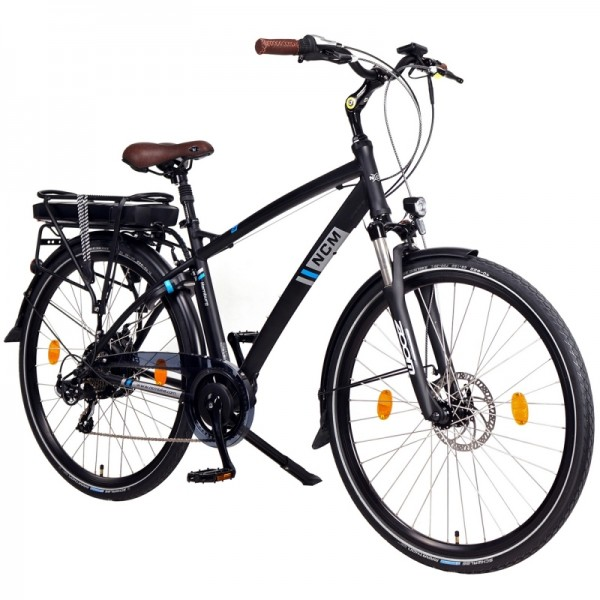 "NCM Hamburg 28"" E-Bike, Urban Citybike, 36V 13Ah 468Wh Akku, schwarz"