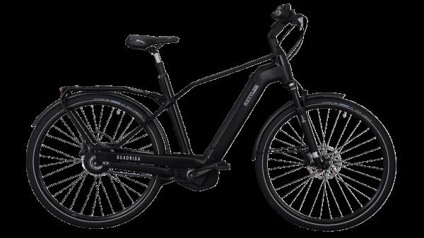 Kettler E-Bike Alu Rad Quadriga Pro Belt 500 Wh Herrenfahrrad 28 Zoll Diamant stufenlos black shiny