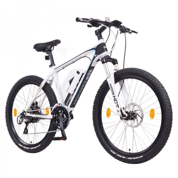 "NCM Prague+ 26"" E-MTB,Mountainbike,E-Bike,36V 14Ah 504Wh Panasonic Zellen Akku,matt weiß"