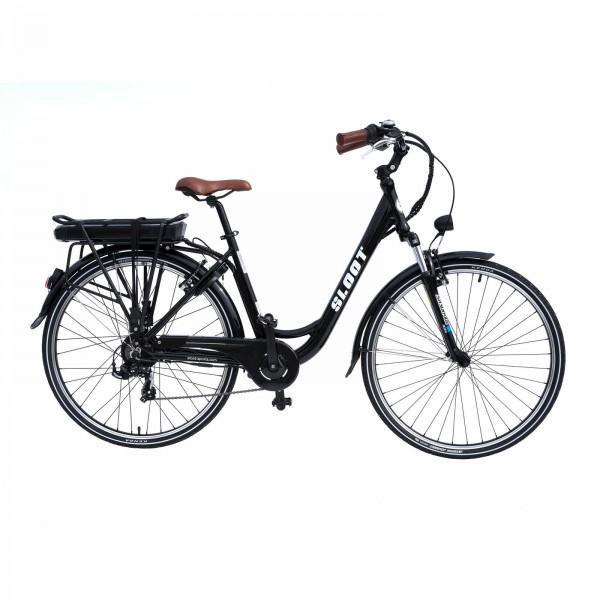 Elektrofahrrad Citybike 700C Schwarz E-CI1010 E-Bike Pedelec Sloot Sports 468Ah