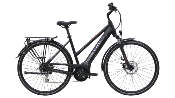 E-Bike BLACKBIRD Blackbird EVO T8 500 Wh Damenfahrrad E-Bike 28 Zoll Trapez 8 Gang black matt