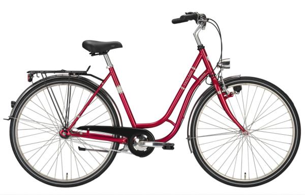 "EXCELSIOR Cityrad ""Touring Niro"" Mod.20 TSP 26"", red metallic, 1-Gang RBN - RH 45 cm"