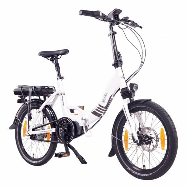 """NCM Paris MAX N8R 20"""" E-Bike, E-Faltrad, 36V 14Ah 504Wh Akku, weiß"""
