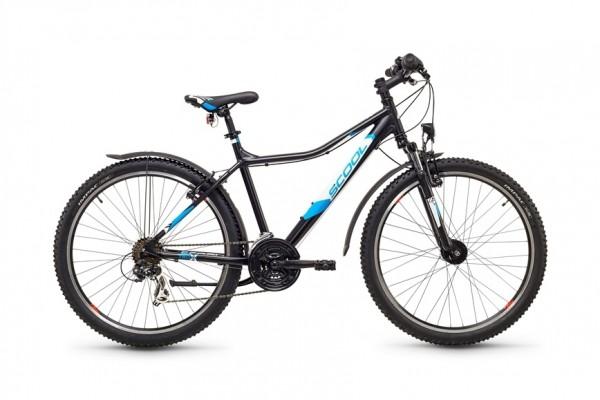 S`COOL troX urban 26 - 48 - 21 speed Shimano - schwarz/blau matt