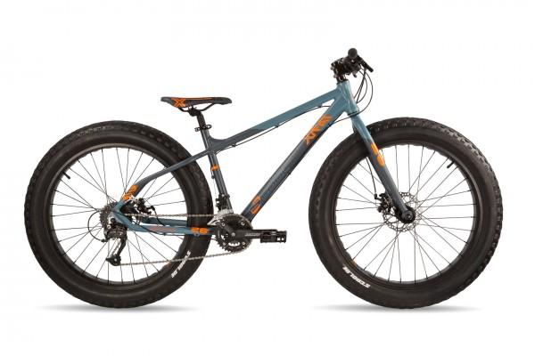 S'COOL XTfat 26 18-S grau/anthrazit/neon-orange matt
