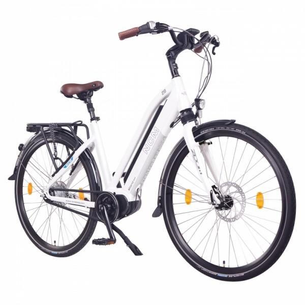"NCM Milano MAX 28"" Damen & Herren Trekking Urban City E-Bike 36V 14Ah 504Wh, weiß"