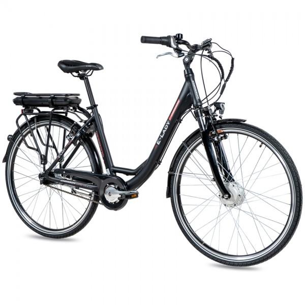 CHRISSON E-LADY 7G Shimano Nexus ANANDA 28 Zoll E-Citybike schwarz matt