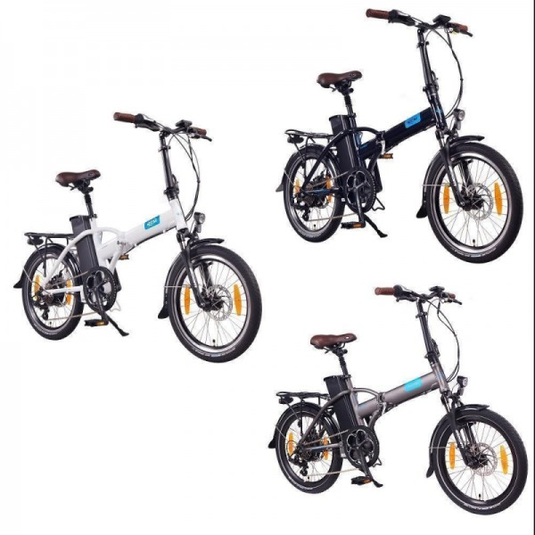 "NCM London 20"" E-Bike, E-Faltrad, 36V 15Ah 540Wh Akku, blau, weiß, anthrazit"