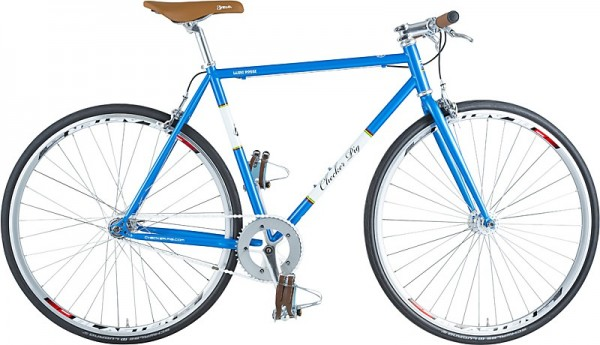 "CHECKER ""Alley Pig Track LTD"" 1-Gang Singlespeedrad - blau - 2020"