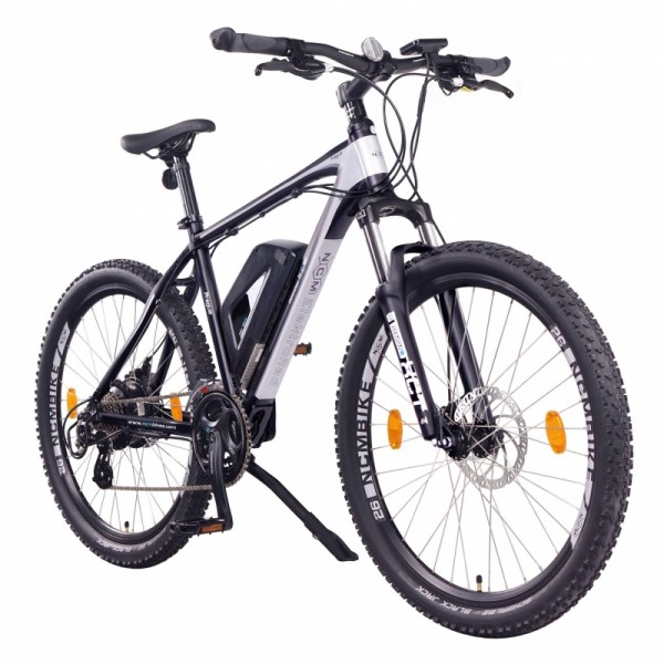 "NCM Prague 26"" E-MTB, Mountainbike, E-Bike 36V 13Ah 468Wh Akku, matt schwarz"