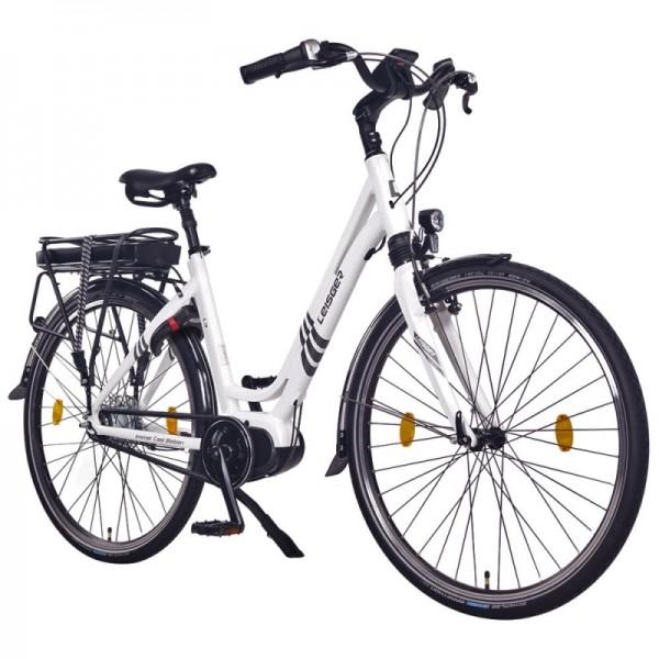 """Leisger® L3 28"""" E-Bike, Citybike, 36V 17Ah 612Wh Akku, weiß"""