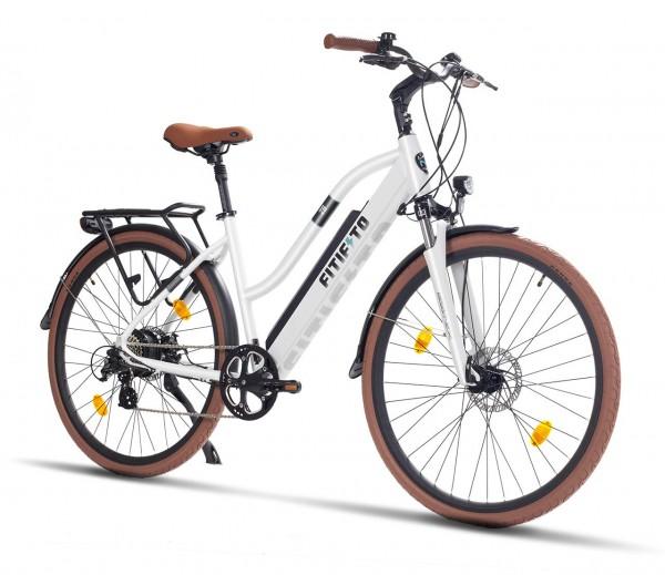 Fitifito CT28 Zoll Elektrofahrrad Citybike E-Bike Pedelec, 48V/36V 250W Heckmotor 48V 13Ah 624W Lith