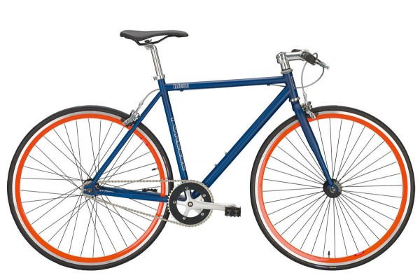 FIXIE FORELLE 28, blau/orange 1-Gang Freilauf RH 53 cm!!!