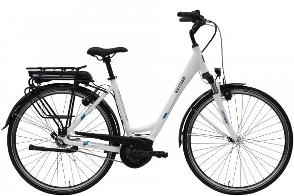 Kettler E-Bike Alu Rad Traveller E Silver 7RT 500 Wh Unisex E-City 28 Zoll Wave white shiny