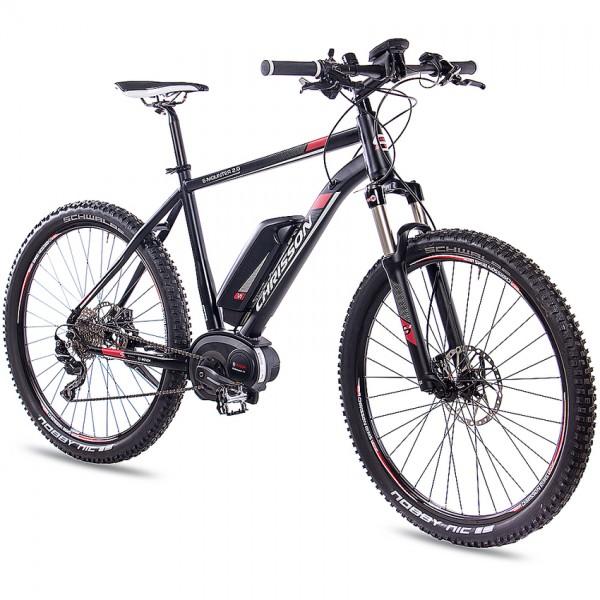CHRISSON E-MOUNTER 2.0 10 Gang BOSCH Powerpack400 27,5 Zoll E-Mountainbike schwarz matt