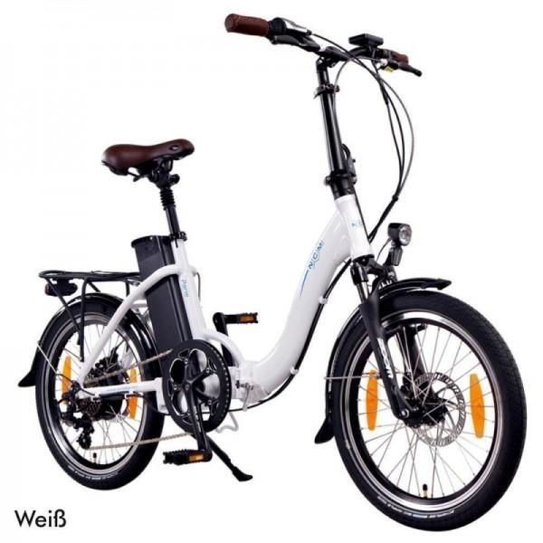 """NCM Paris 20"""" E-Bike, E-Faltrad, 36V 15Ah 540Wh Akku, dunkel blau, silber, weiß, anthrazit"""