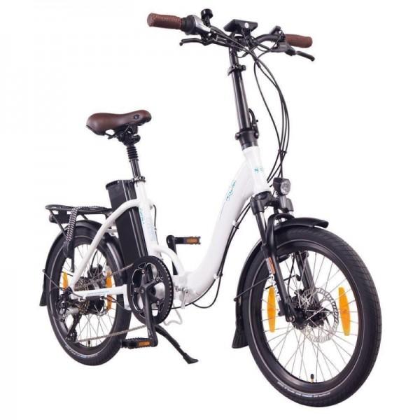 """NCM Paris+ 20"""" E-Faltrad, E-Bike, Klapprad 36V 19Ah 684Wh, weiß"""