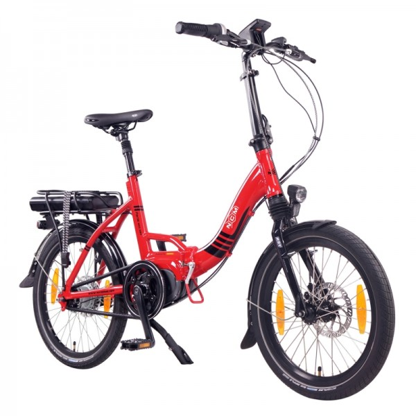 "NCM Paris MAX N8R 20"" E-Bike, E-Faltrad, 36V 14Ah 504Wh Akku, rot"