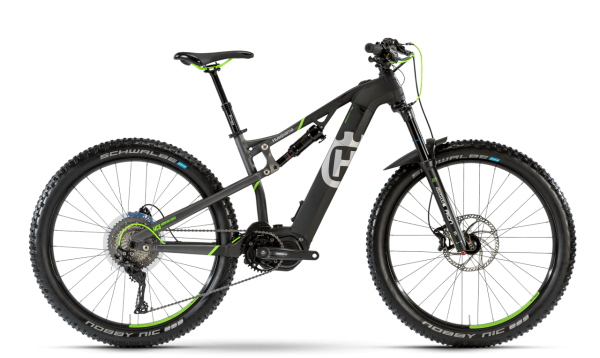 "HUSQVARNA MOUNTAIN CROSS MC6 27,5"" E MTB FULLY 42cm Titan Mattblack Neongreen 2018"